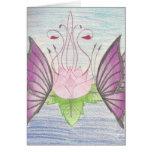 dos mariposas por un loto tarjetas