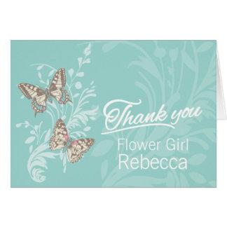 Dos mariposas que casan al florista agradecen la t