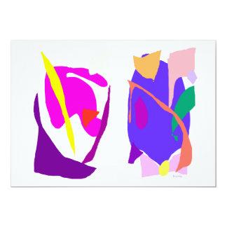 Dos máscaras invitación 12,7 x 17,8 cm