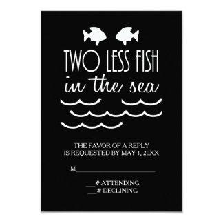 """Dos menos pescados en el boda del mar invitación 3.5"""" x 5"""""""