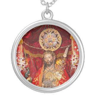 """DOS Milagres de Senhor Santo Cristo "" Colgante Redondo"