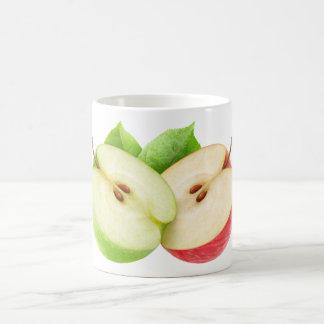 Dos mitades de la manzana taza