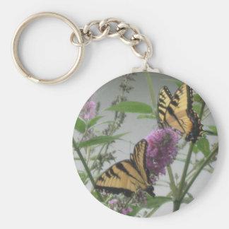 Dos monarcas llaveros personalizados