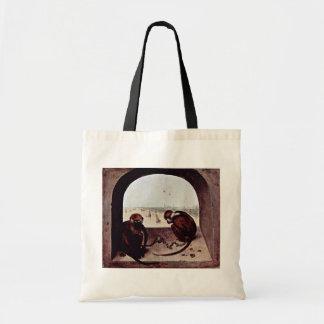 Dos monos por Bruegel D. Ä. Pieter (la mejor calid Bolsas