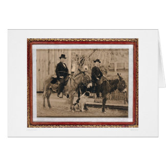 Dos muchachos de O'Keefe en los burros (40040) Tarjeta De Felicitación