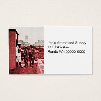 Dos muchachos que llevan las caretas antigás tarjetas de visita