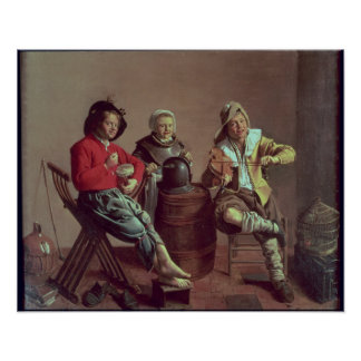 Dos muchachos y un chica que hace la música, 1629 póster