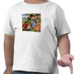 Dos mujeres con las chicas jóvenes en un paisaje - camiseta