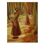 Dos mujeres de Vincent van Gogh Postales
