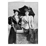 Dos mujeres del Victorian, 1898 Felicitación