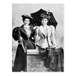 Dos mujeres del Victorian, 1898 Postal