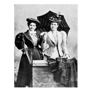 Dos mujeres del Victorian 1898 Tarjetas Postales