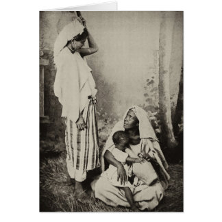 Dos mujeres en Tánger, Marruecos, 1898 Tarjeta Pequeña