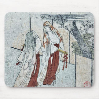 Dos mujeres que llevan las capas como velos por Ku Tapetes De Ratones