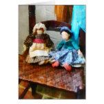 Dos muñecas de trapo coloniales felicitaciones