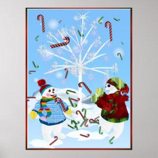 Dos muñecos de nieve posters