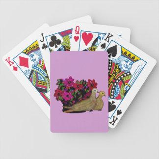 Dos naipes de las palomas de la tortuga baraja cartas de poker