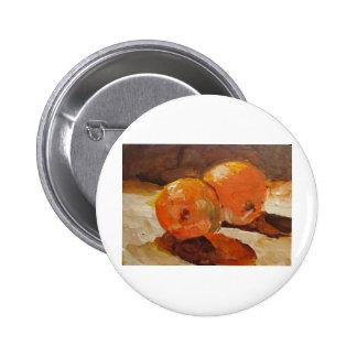 Dos naranjas pin redondo 5 cm