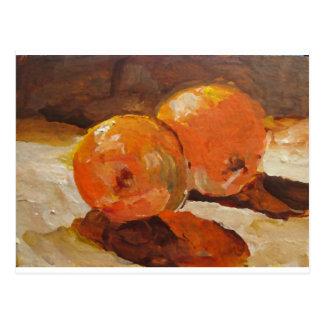 Dos naranjas postal
