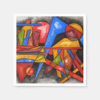 Dos naves - servilletas geométricas del arte servilletas desechables