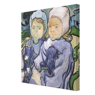 Dos niñas, 1890 impresión en lona