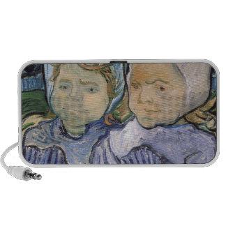 Dos niñas, 1890 laptop altavoz