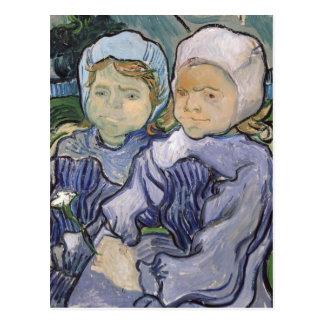 Dos niñas, 1890 postales