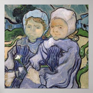 Dos niñas, 1890 póster