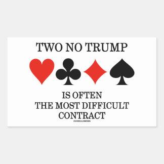 Dos ningún triunfo es a menudo el contrato más pegatina rectangular