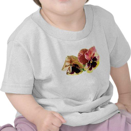 Dos niños en colores pastel de los pensamientos camisetas