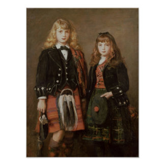 Dos niños póster