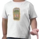 Dos nobles asentados en un paisaje, de la pequeña  camisetas