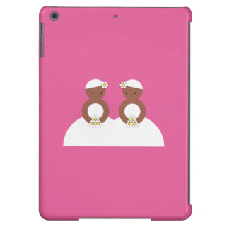 Dos novias, ambas coloreadas carcasa para iPad air