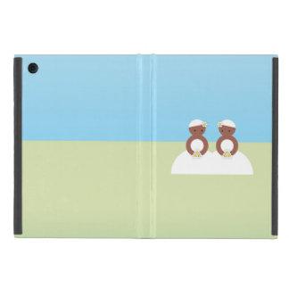 Dos novias, ambas coloreadas iPad mini fundas