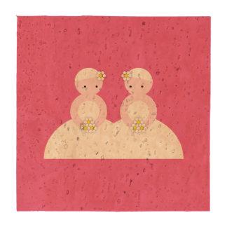 Dos novias caucásicas posavasos