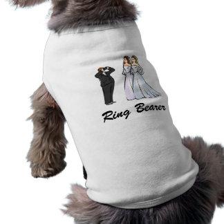 Dos novias que son fotografiadas camiseta de perro