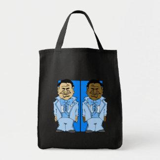 Dos novios azules bolsa tela para la compra