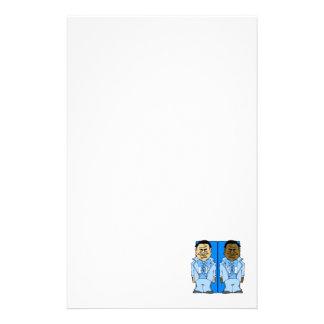 Dos novios azules papeleria personalizada