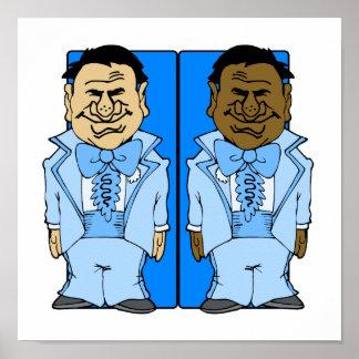 Dos novios azules póster