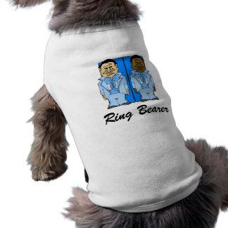 Dos novios azules ropa para mascota