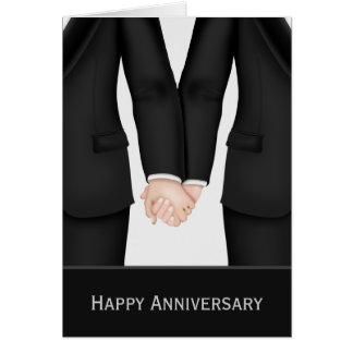 Dos novios en aniversario de boda de los juegos tarjeta de felicitación