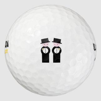 Dos novios pack de pelotas de golf