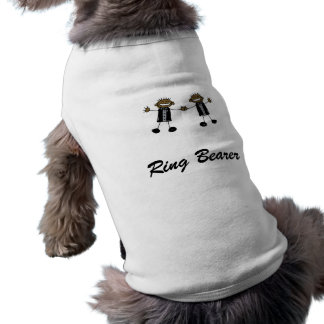 Dos novios que bailan negro feliz camisetas de perro
