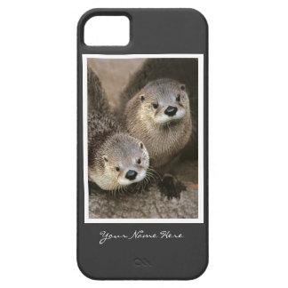Dos nutrias de río iPhone 5 Case-Mate cobertura
