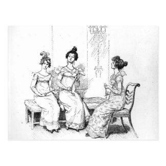 Dos o tres señoras jovenes ofendidas postales