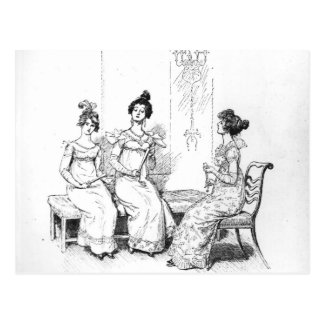 Dos o tres señoras jovenes ofendidas postal