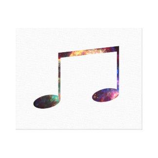 Dos octavas notas de la nebulosa 1 impresiones en lona estiradas