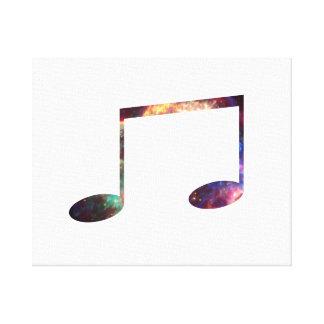 Dos octavas notas de la nebulosa 1 impresiones en lienzo estiradas