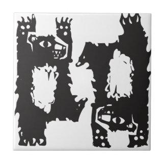 Dos osos de baile azulejo cerámica