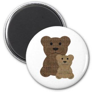 Dos osos de peluche imán de frigorífico